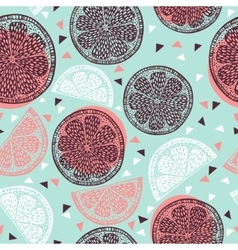 Citrus pattern graphics vector