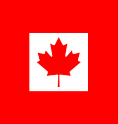 colored flag of canada vector image