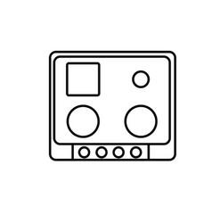 Cook top icon vector