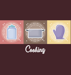 cooking utensils design vector image