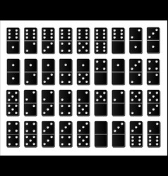 creative domino full set isolated on white vector image