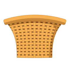 Cute basket cartoon vector