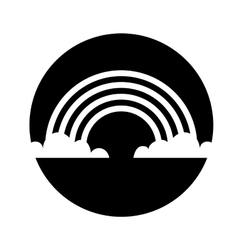 Cute rainbow isolated icon vector