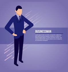 data network businessman vector image