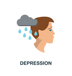 Depression icon simple element from personality vector