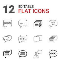dialog icons vector image