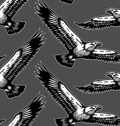 Eagles seamless pattern vector