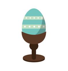 Easter egg wooden base decorative vector