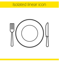 eatery linear icon vector image
