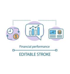 financial performance concept icon vector image