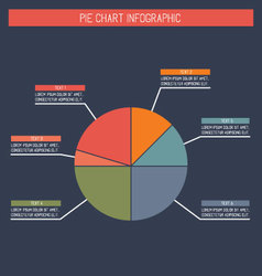 Flat Pie Chart Infographic vector