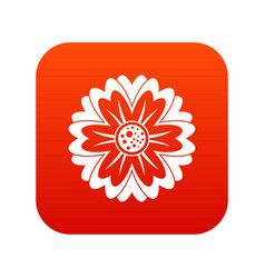 flower icon digital red vector image vector image