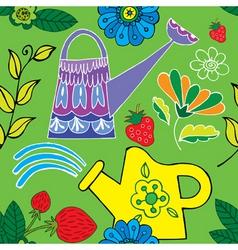 garden print vector image