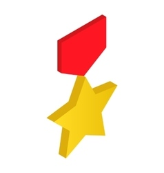 Gold star order 3d icon vector