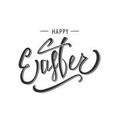 happy easter greeting calligraphy design vector image