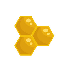 honey cells icon flat style vector image