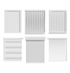 Horizontal or vertical window blind realistic set vector
