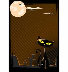 illustration of halloween cat vector image