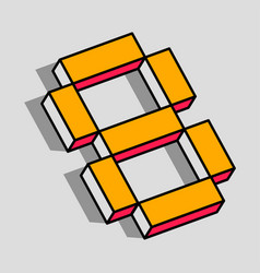 isometric 8 number vector image