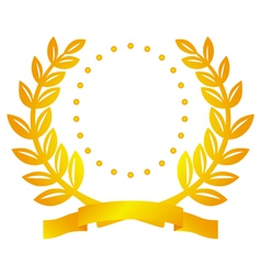 Laurel wreath and circles vector image