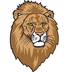 lion head logo mascot vector image