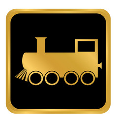 locomotive button on white vector image