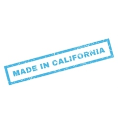 Made In California Rubber Stamp vector