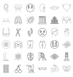 Medical advisor icons set outline style vector
