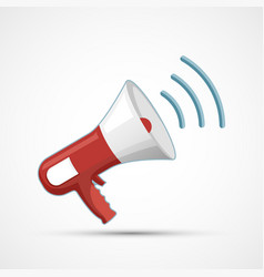 megaphone icon isolated on a white background vector image