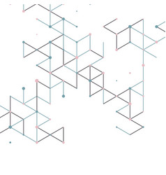 Modern technology with square mesh vector
