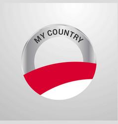 monaco my country flag badge vector image