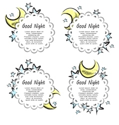 Moon And Stars labels vector image
