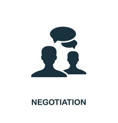 Negotiation icon symbol creative sign from vector