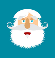 old man happy emoji senior with gray beard face vector image
