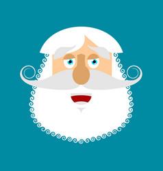 old man happy emoji senior with gray beard face vector image
