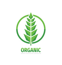 organic product - concept business logo design vector image