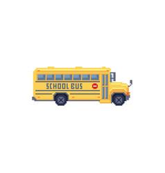 pixel art 8 bit - yellow children vector image