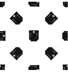 pocket design pattern seamless black vector image
