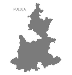 Puebla mexico map grey vector