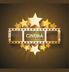 Retro cinema scoreboard with a film and vector