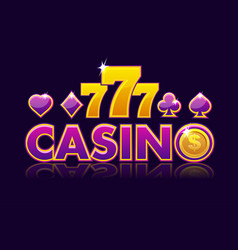 Screen logo casino background slot gambling icons vector