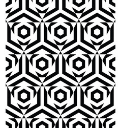 Seamless pattern with black hexagon and triangle vector