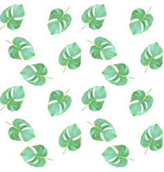 Seammles pattern colorful naturalistic green vector