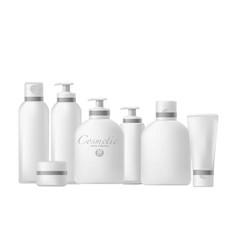 Set of cosmetics bottle vector