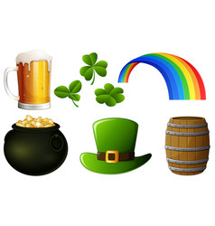set of st patrick s day vector image