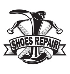 Shoes repair ribbon vector