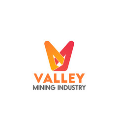 Sign for mining business vector