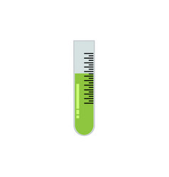 simple flat test tube colored green on soft vector image