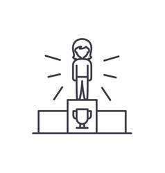sport champion line icon concept sport champion vector image