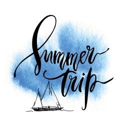 Summer Trip card vector image